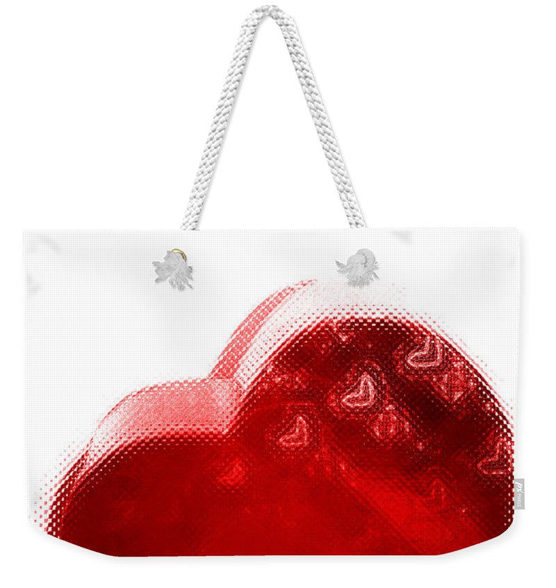 Hearts Weekender Tote Bag featuring the digital art Melting Heart by Linda Sannuti