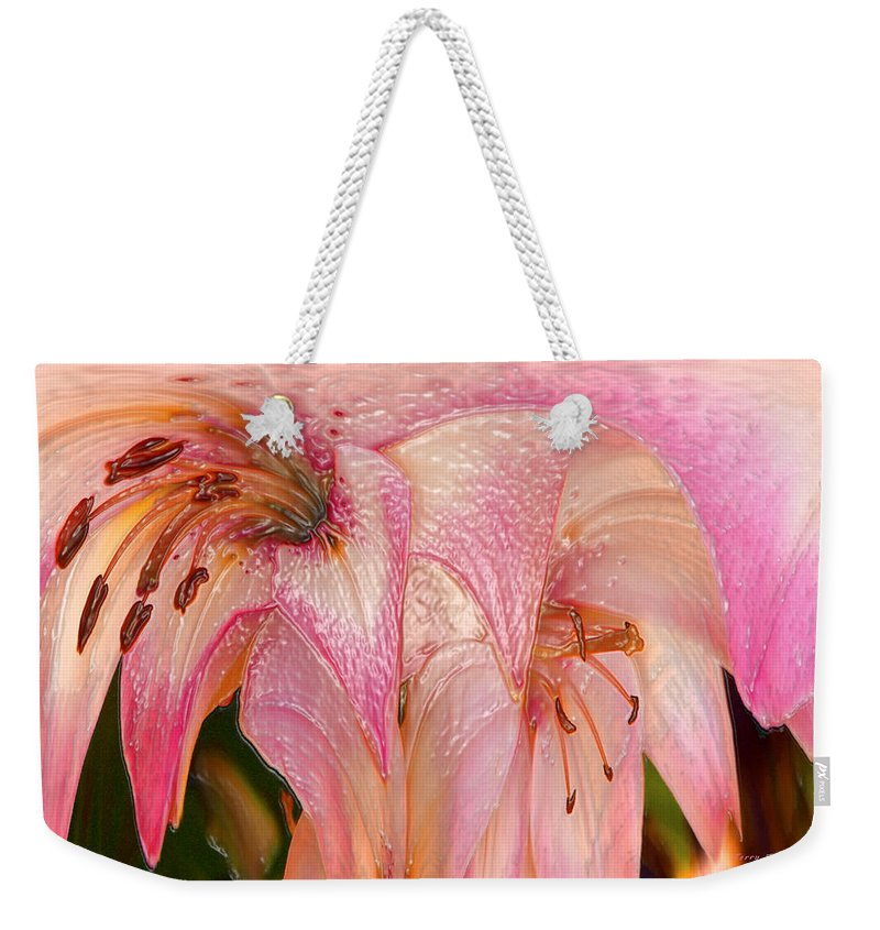 Melting Weekender Tote Bag featuring the photograph Melting Lilly by Terry Anderson