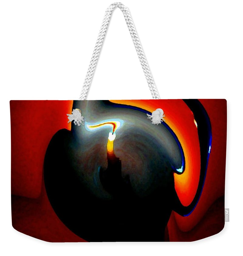 Dramatic Weekender Tote Bag featuring the digital art Melting Point by Will Borden