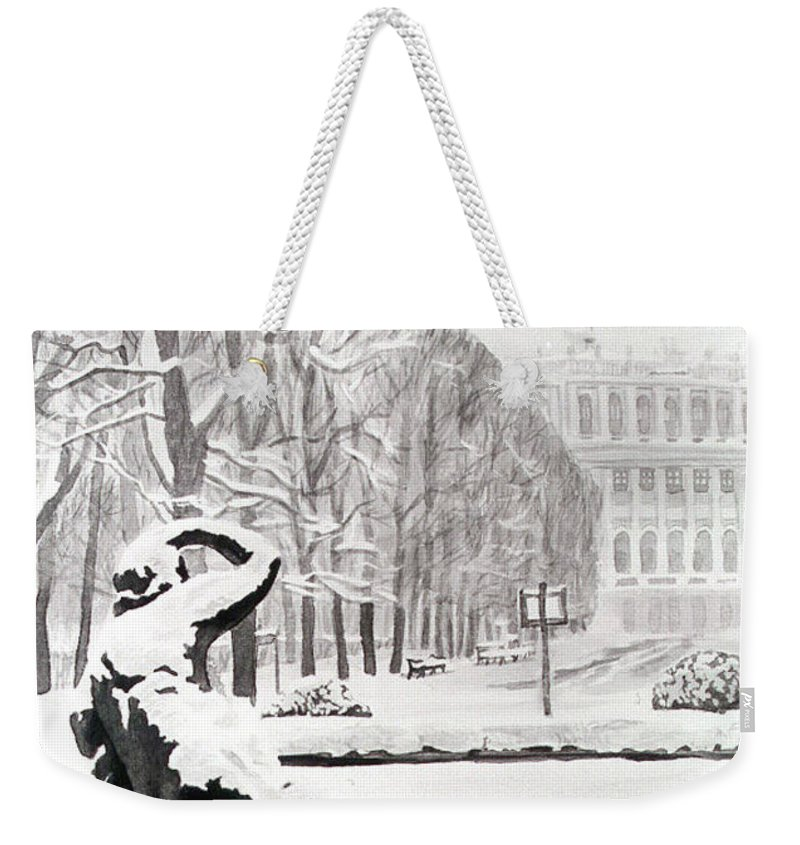 Weekender Tote Bag featuring the painting Memorial Schoenbrunn by Johannes Margreiter