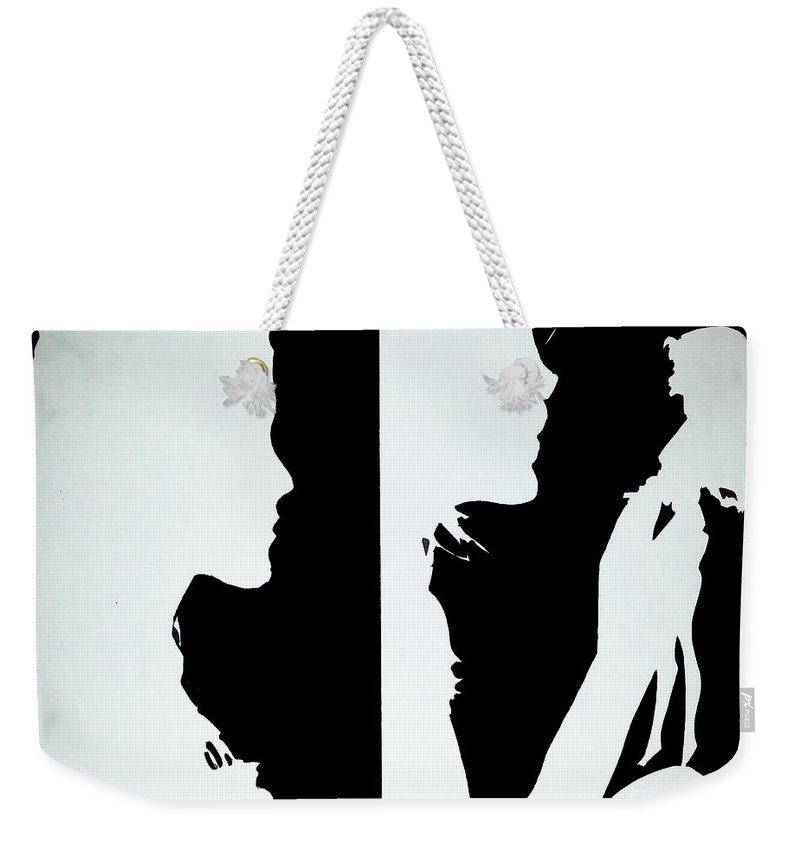 Art Weekender Tote Bag featuring the painting Memories 1 And 2 by Nour Refaat