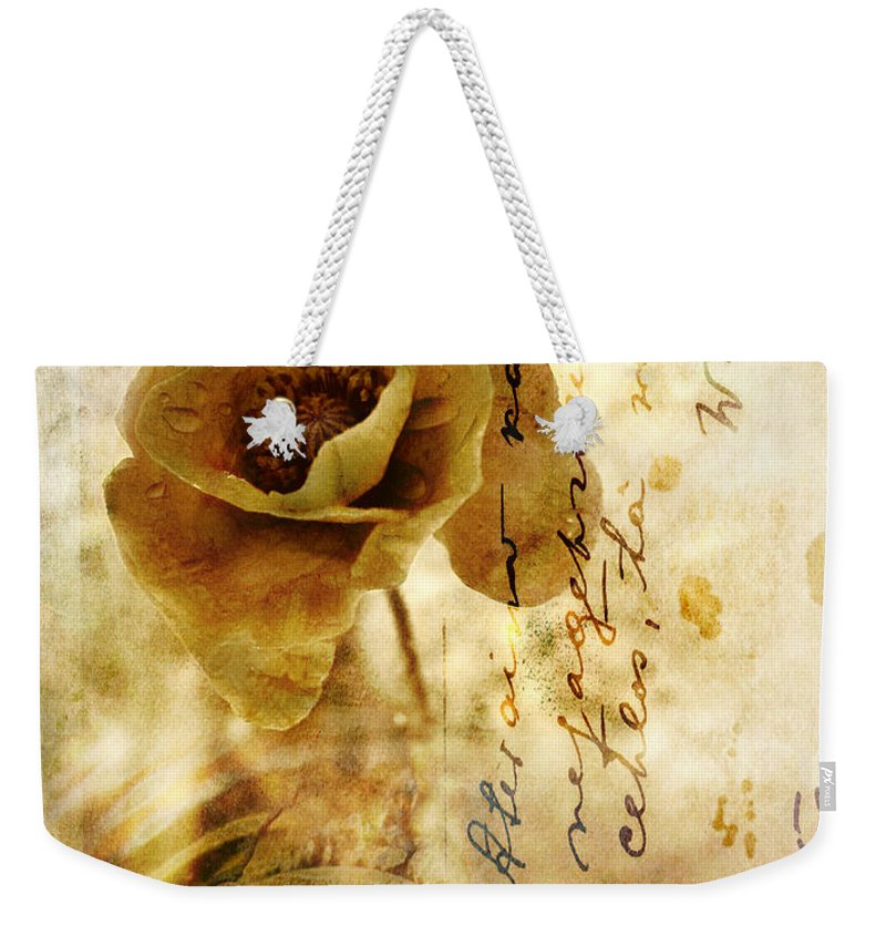 Memories Weekender Tote Bag featuring the photograph Memories And Time by Silvia Ganora