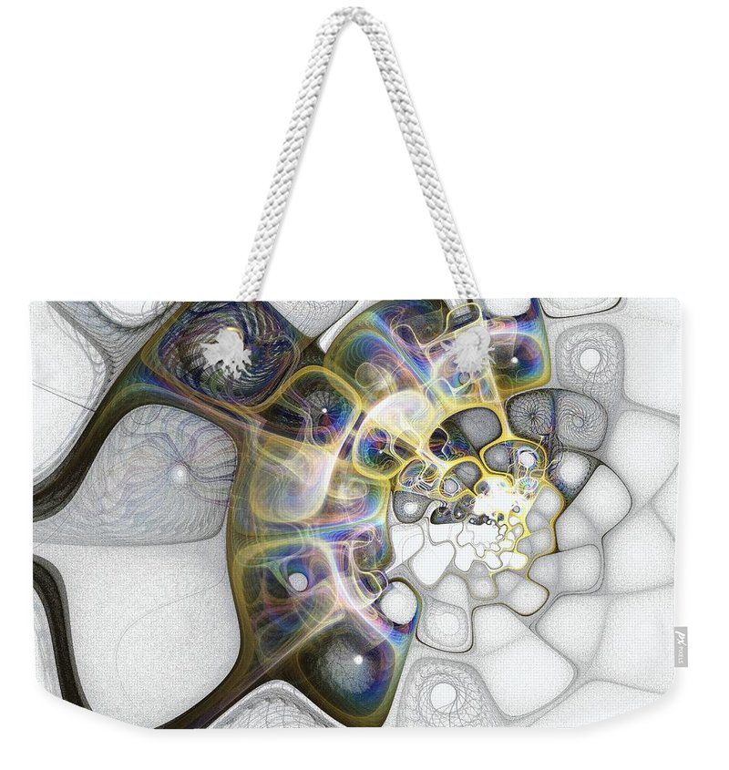 Digital Art Weekender Tote Bag featuring the digital art Memories II by Amanda Moore