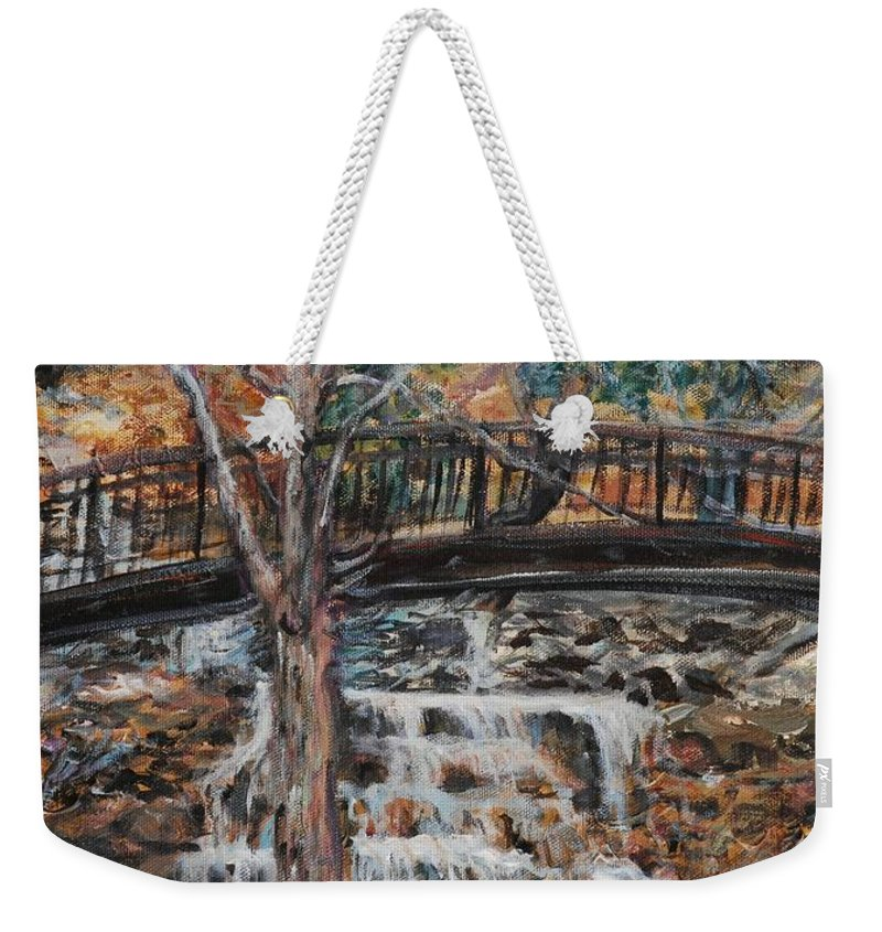 Waterfalls Weekender Tote Bag featuring the painting Memories by Nadine Rippelmeyer
