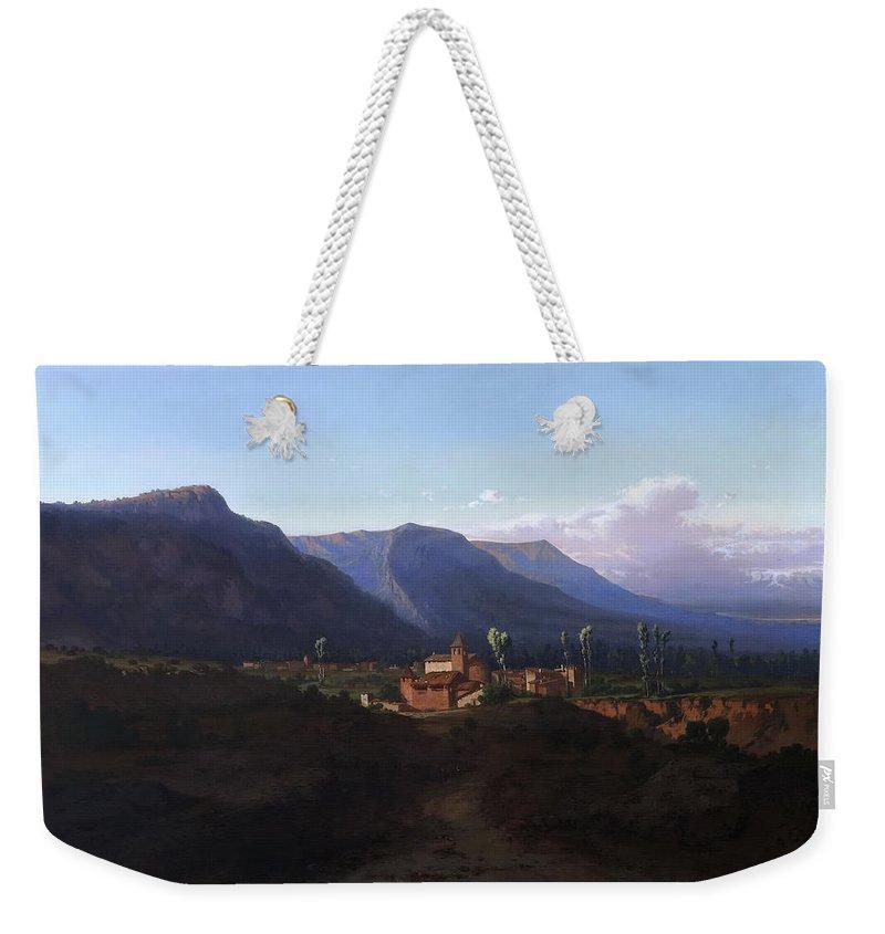 Lluis Rigalt Weekender Tote Bag featuring the painting Memories Of Catalonia by Lluis Rigalt