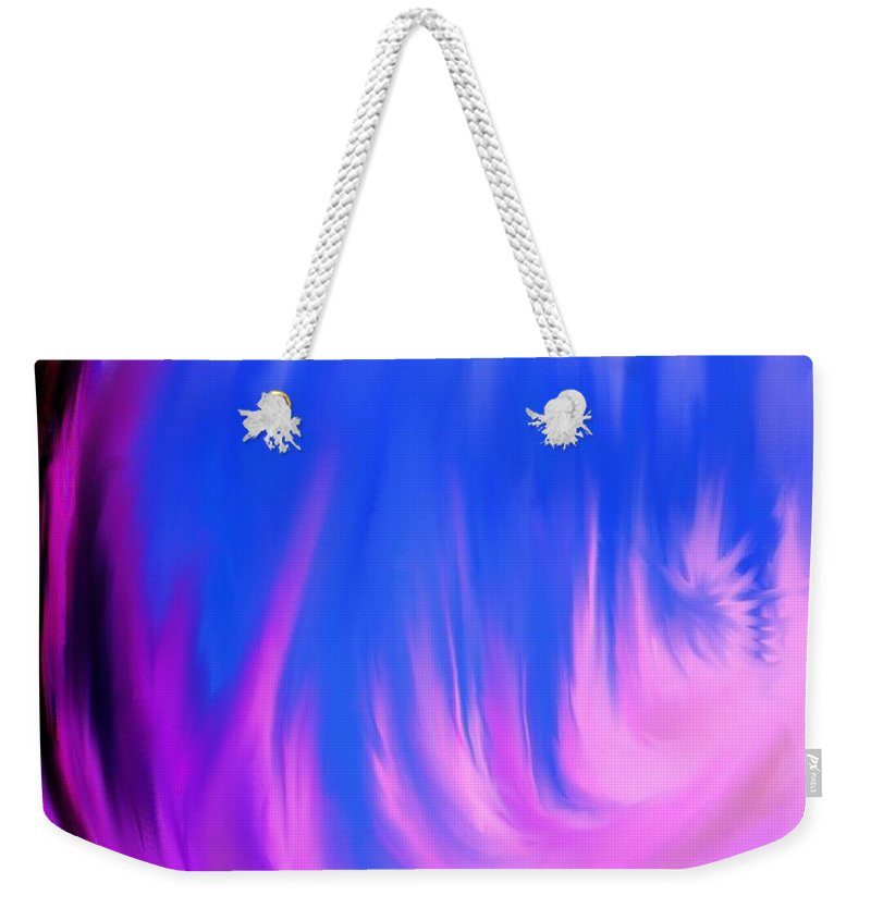Abstract Weekender Tote Bag featuring the digital art Memories Of Dominica by Ian MacDonald