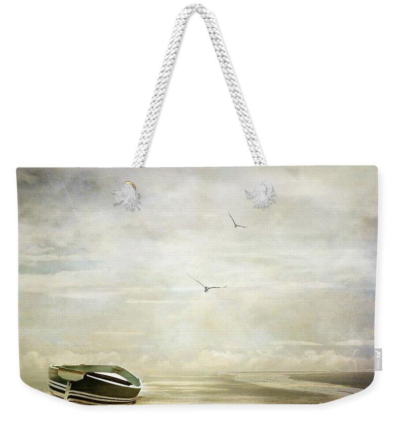 Beach Weekender Tote Bag featuring the photograph Memories by Jacky Gerritsen