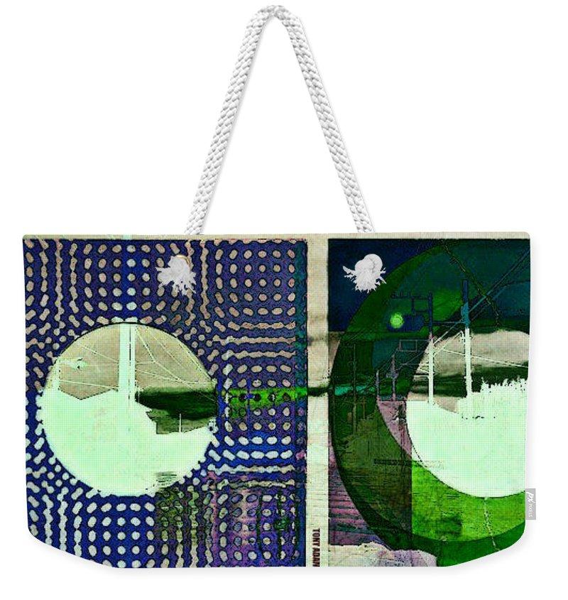 Memories Through A 45 Sleeve Weekender Tote Bag featuring the digital art Memories Through A 45 Sleeve by Tony Adamo
