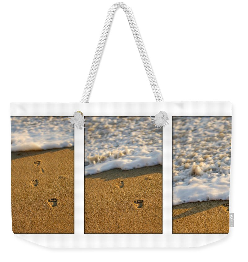 Beach Weekender Tote Bag featuring the photograph Memories Washed Away by Jill Reger