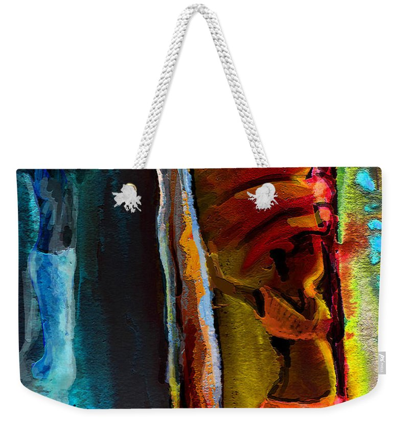Africa Weekender Tote Bag featuring the painting Memory From Africa 01 by Miki De Goodaboom