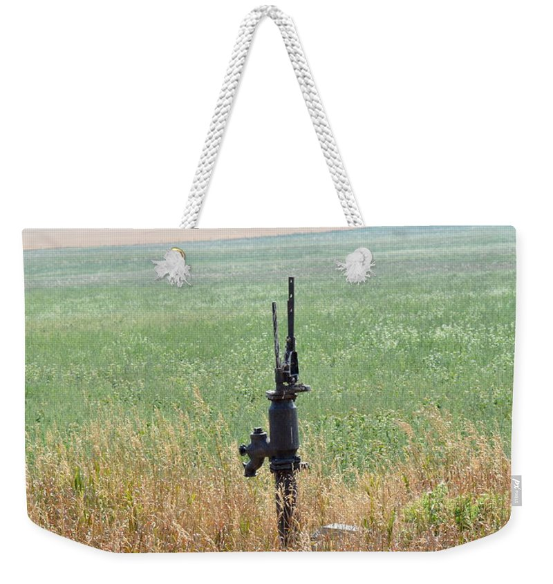 Memory's Weekender Tote Bag featuring the photograph Memory's Of Water Pumped by Ed Mosier
