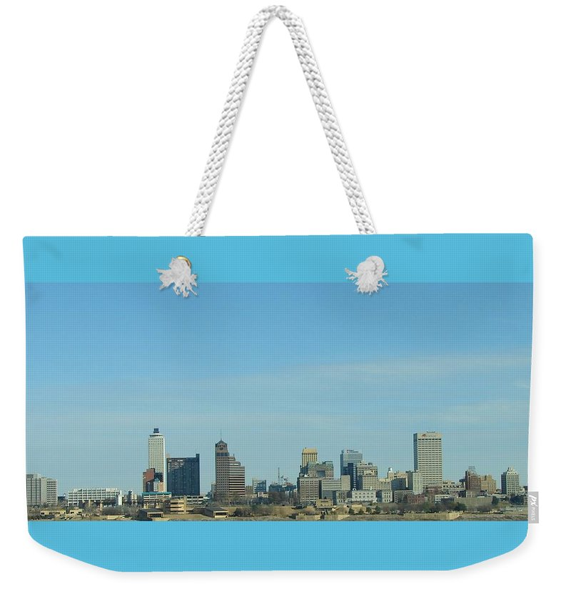 Memphis Weekender Tote Bag featuring the photograph Memphis Skyline by J R Seymour