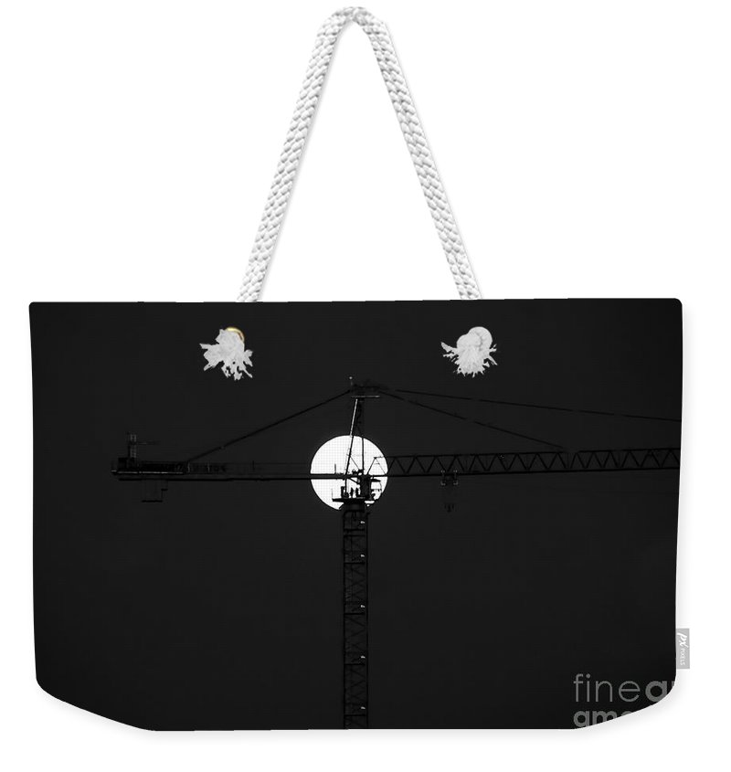 Moon Weekender Tote Bag featuring the photograph Men In The Moon by David Lee Thompson
