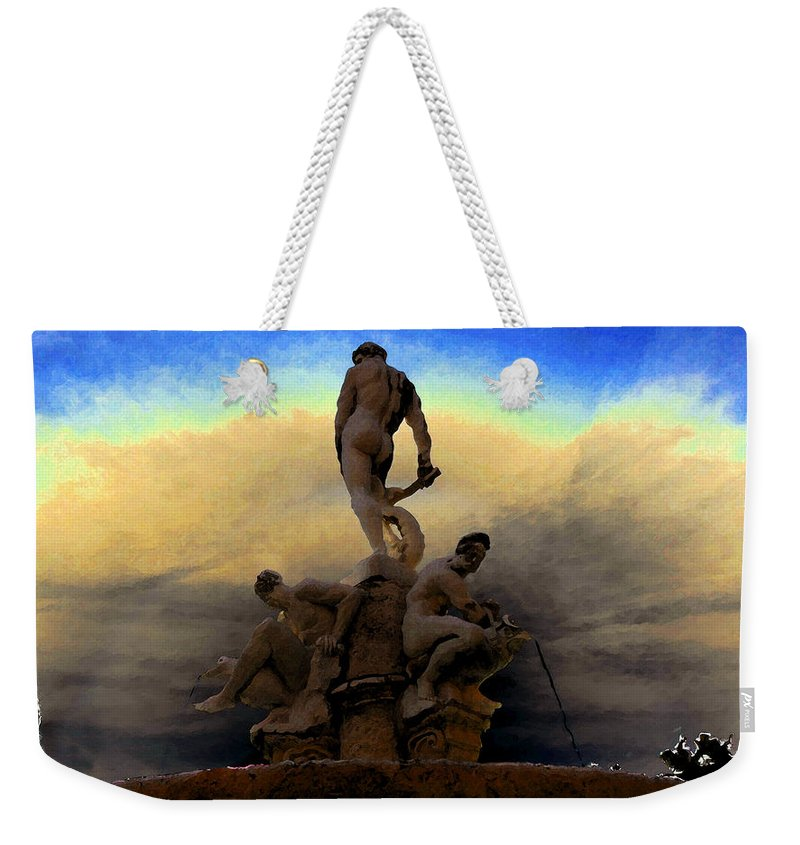 Art Weekender Tote Bag featuring the painting Men Of Greece by David Lee Thompson