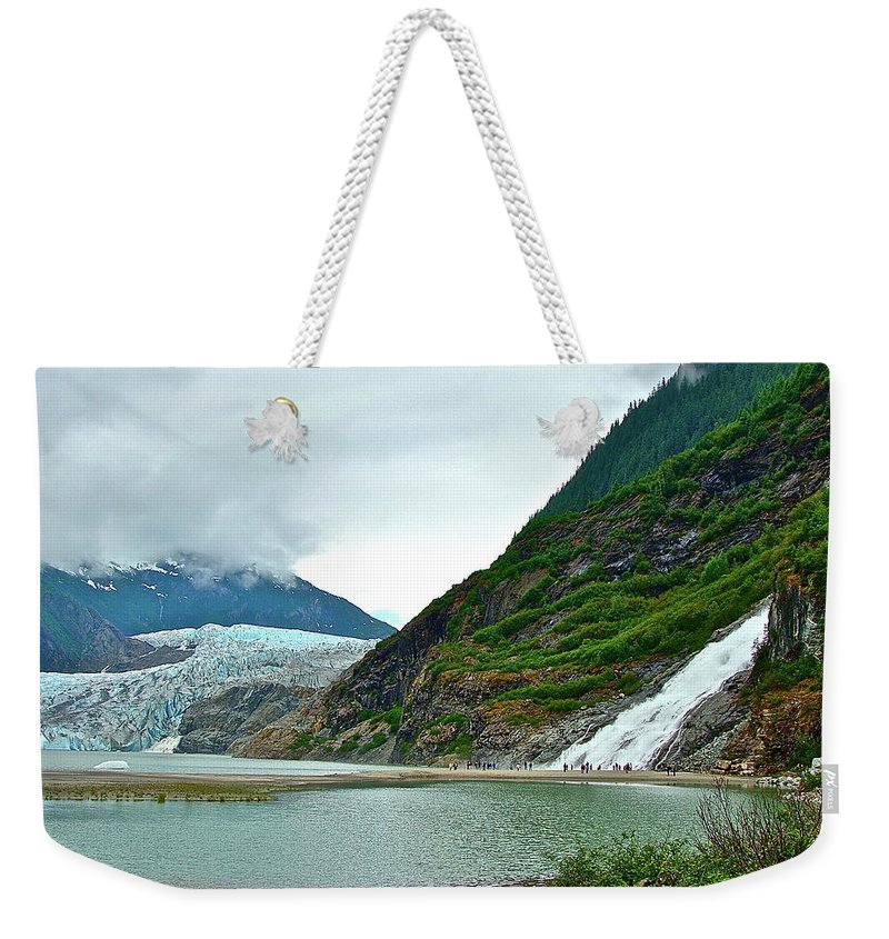 Falls Weekender Tote Bag featuring the photograph Mendenhall by Diana Hatcher