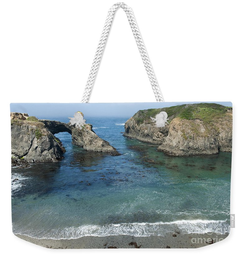 Bronstein Weekender Tote Bag featuring the photograph Mendicino County Viewpoint by Sandra Bronstein