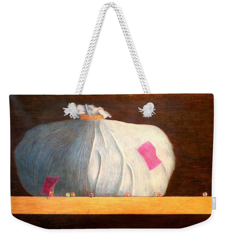 Still Life Weekender Tote Bag featuring the painting Mental Escapees by A Robert Malcom