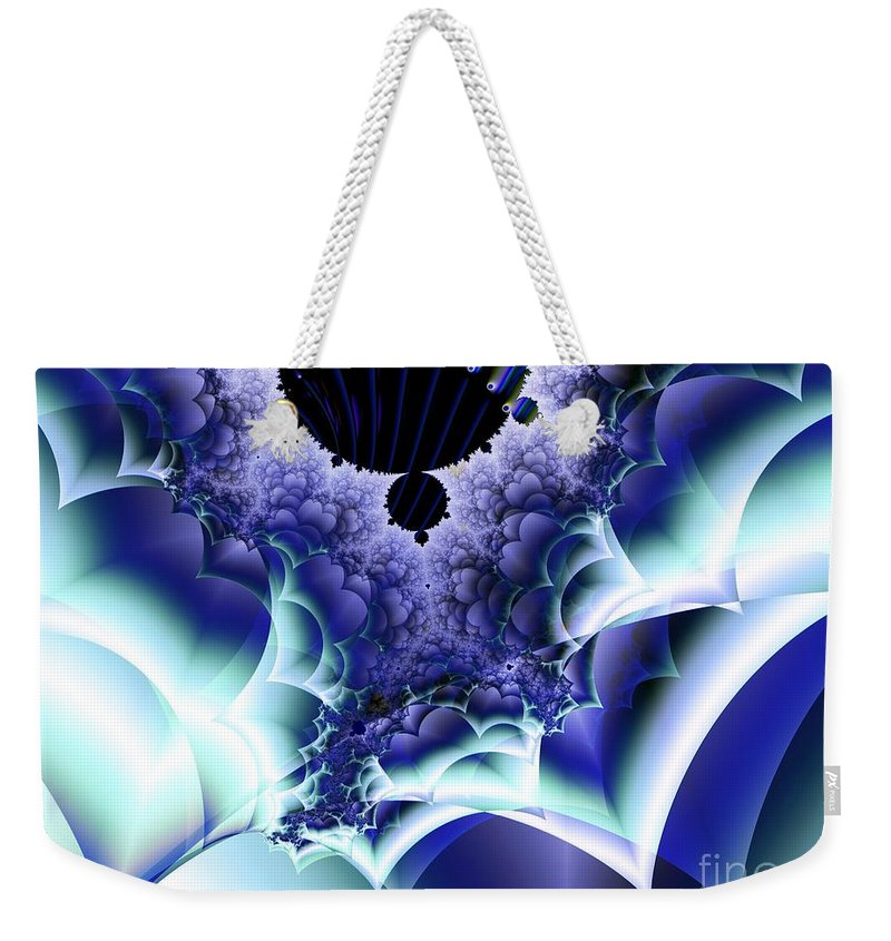 Menthol Weekender Tote Bag featuring the digital art Menthols by Ron Bissett