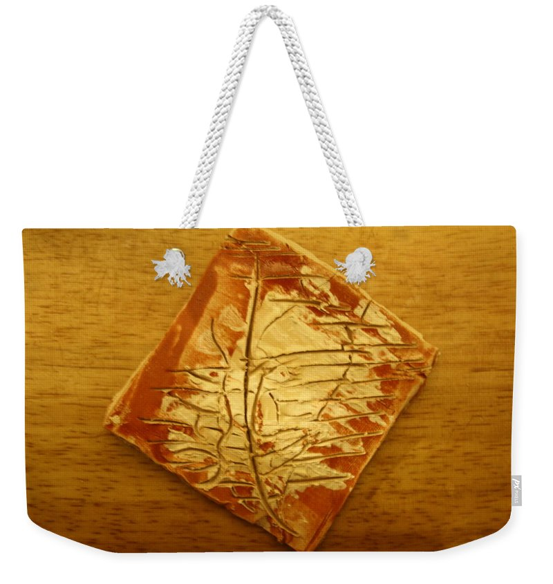 Jesus Weekender Tote Bag featuring the ceramic art Mention - Tile by Gloria Ssali