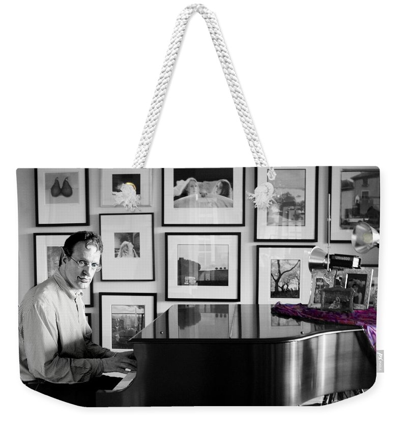 Piano Playing Weekender Tote Bag featuring the photograph Mephistos Waltz by Madeline Ellis