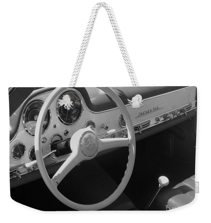 Mercedes Weekender Tote Bag featuring the photograph Mercedes 300sl Dashboard by Neil Zimmerman