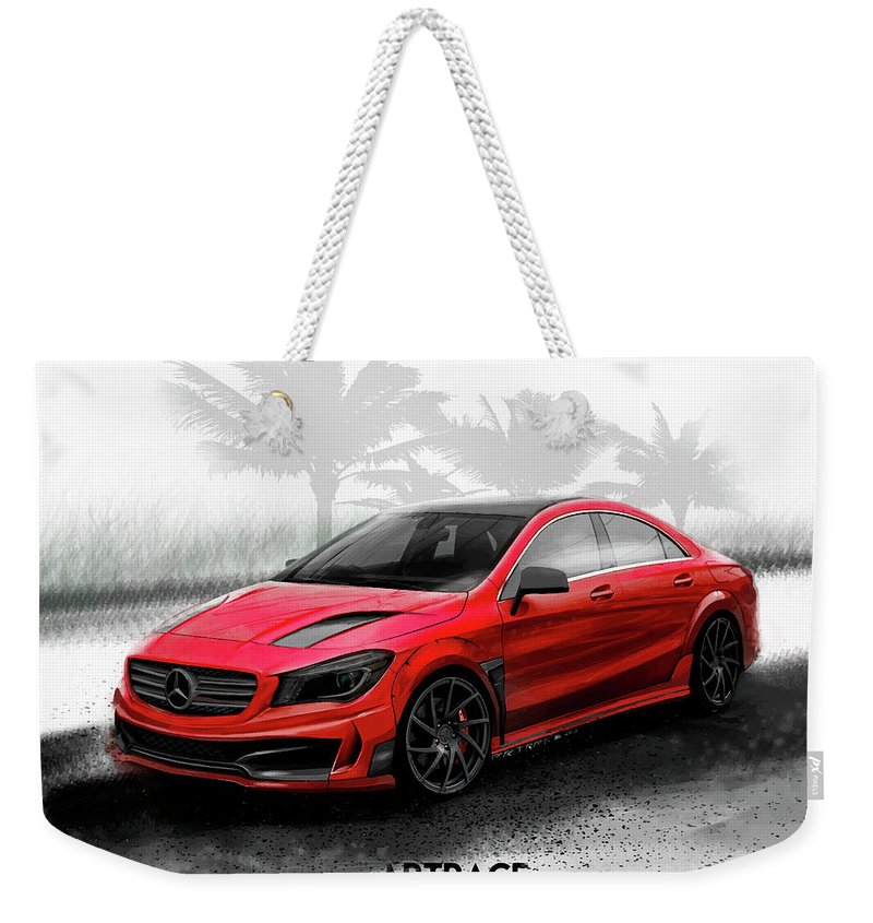 Mercedes Benz Cla Tuning Wide Body Kit Weekender Tote Bag For Sale