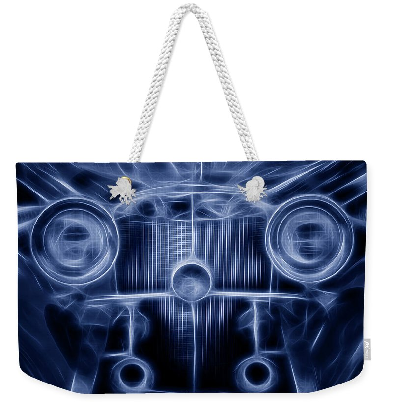 1935 Weekender Tote Bag featuring the photograph Mercedes Roadster by Tom Mc Nemar