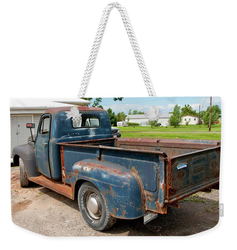 Antique Car Weekender Tote Bag featuring the photograph Mercury 2236 by Guy Whiteley