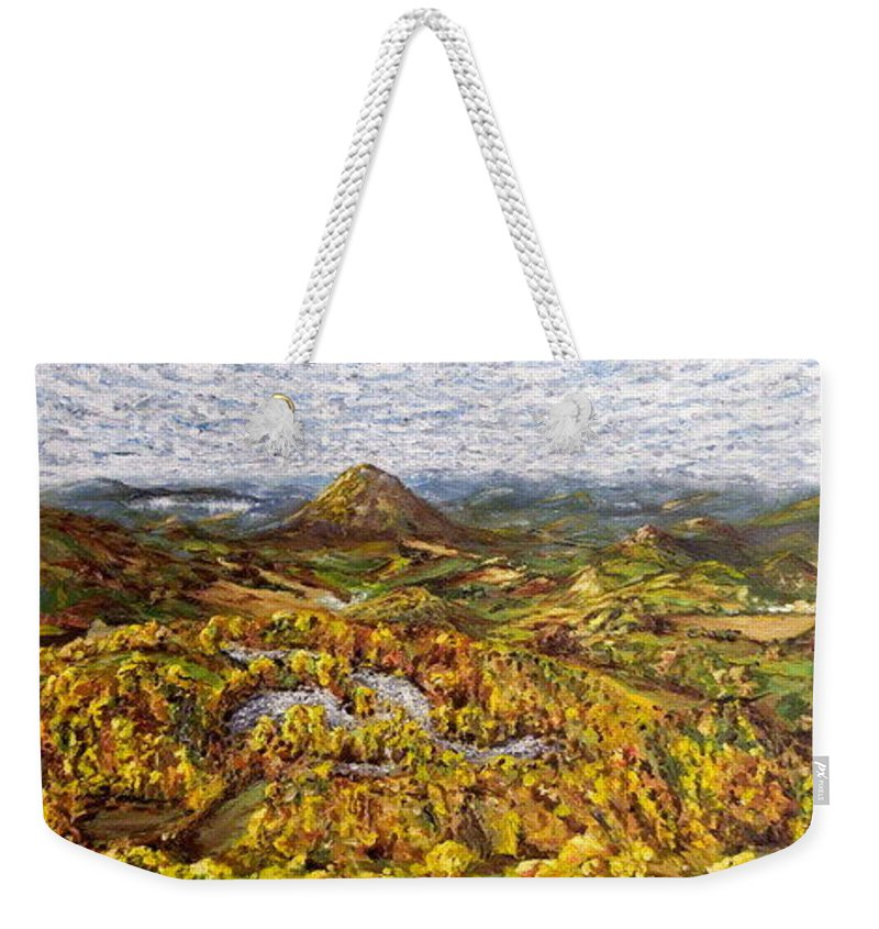 Landscape Weekender Tote Bag featuring the painting Merlbortice by Pablo de Choros