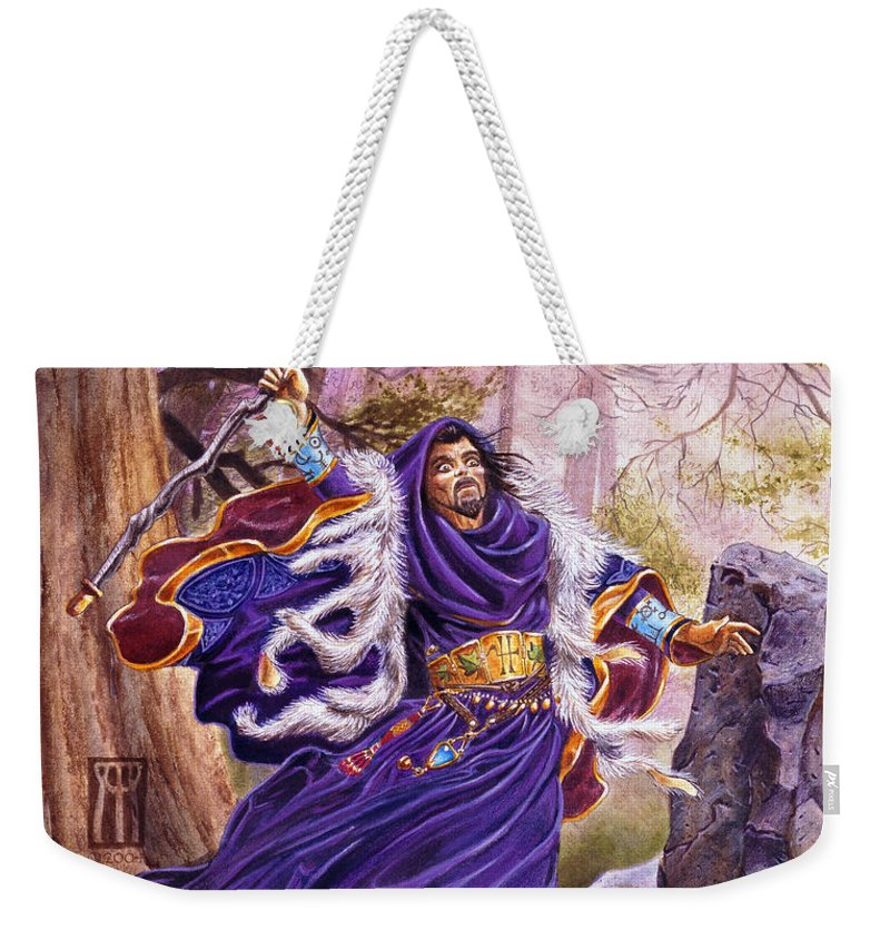 Artwork Weekender Tote Bag featuring the painting Merlin by Melissa A Benson