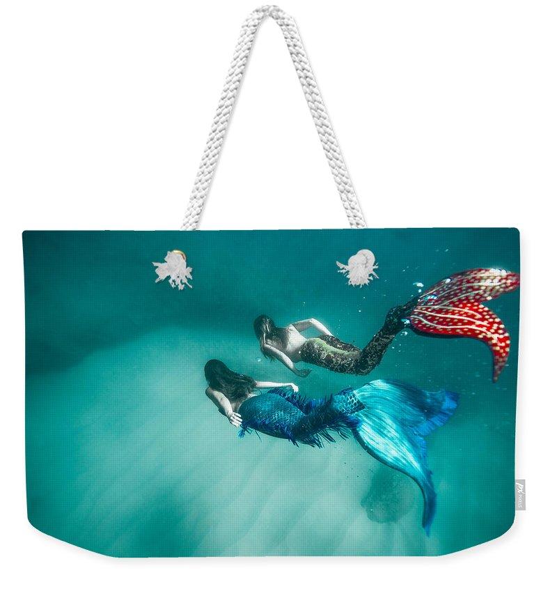 Mermaids Weekender Tote Bag featuring the photograph Mermaid Friends by Leonardo Dale