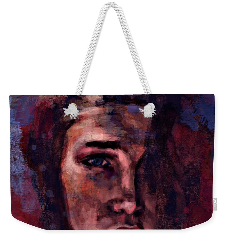 Portrait Retrato Abstractart Abstract Impressionism Expresionism Nickcave Weekender Tote Bag featuring the digital art Mermaids by M A Ibanez