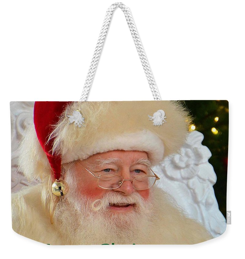 Santa Weekender Tote Bag featuring the photograph Merry Christmas by Cindy Manero