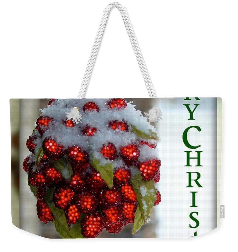 Merry Christmas Weekender Tote Bag featuring the photograph Merry Christmas by Lisa Knechtel