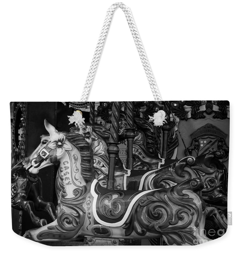 Black & White Weekender Tote Bag featuring the photograph Merry Go Round by Paul Quinn