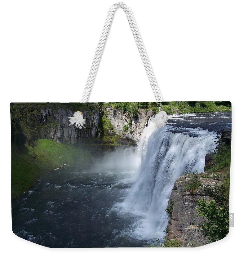 Landscape Weekender Tote Bag featuring the photograph Mesa Falls by Gale Cochran-Smith