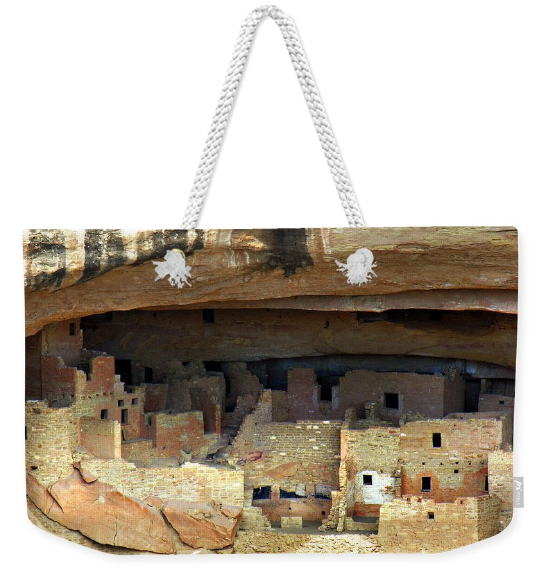 Americana Weekender Tote Bag featuring the photograph Mesa Verde by Marilyn Hunt