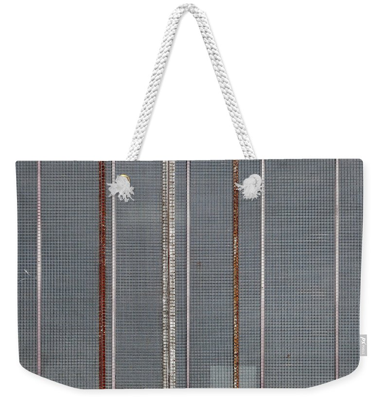 Abstract Weekender Tote Bag featuring the photograph Mesh 03 by Richard Nixon