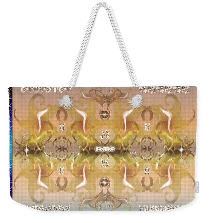 Fantasy Weekender Tote Bag featuring the digital art Message From Space by George Pasini
