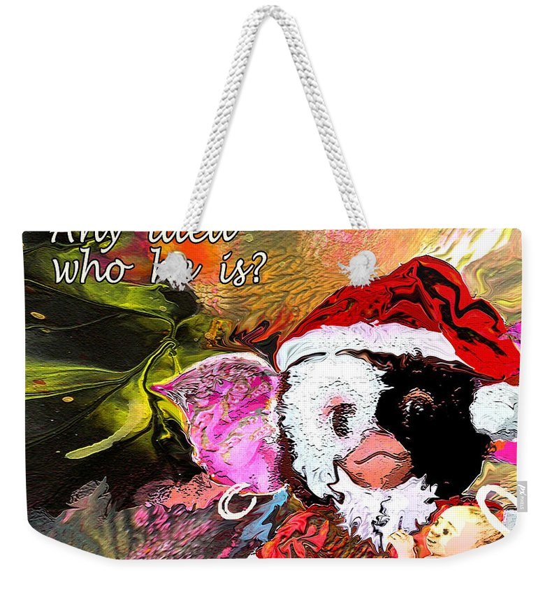 Fantasy Painting Weekender Tote Bag featuring the painting Messiah Found by Miki De Goodaboom