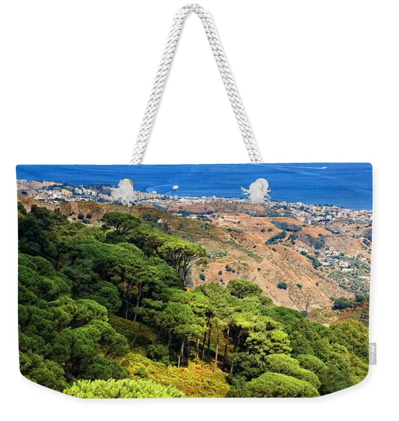 Italy Weekender Tote Bag featuring the photograph Messina Strait - Italy by Silvia Ganora