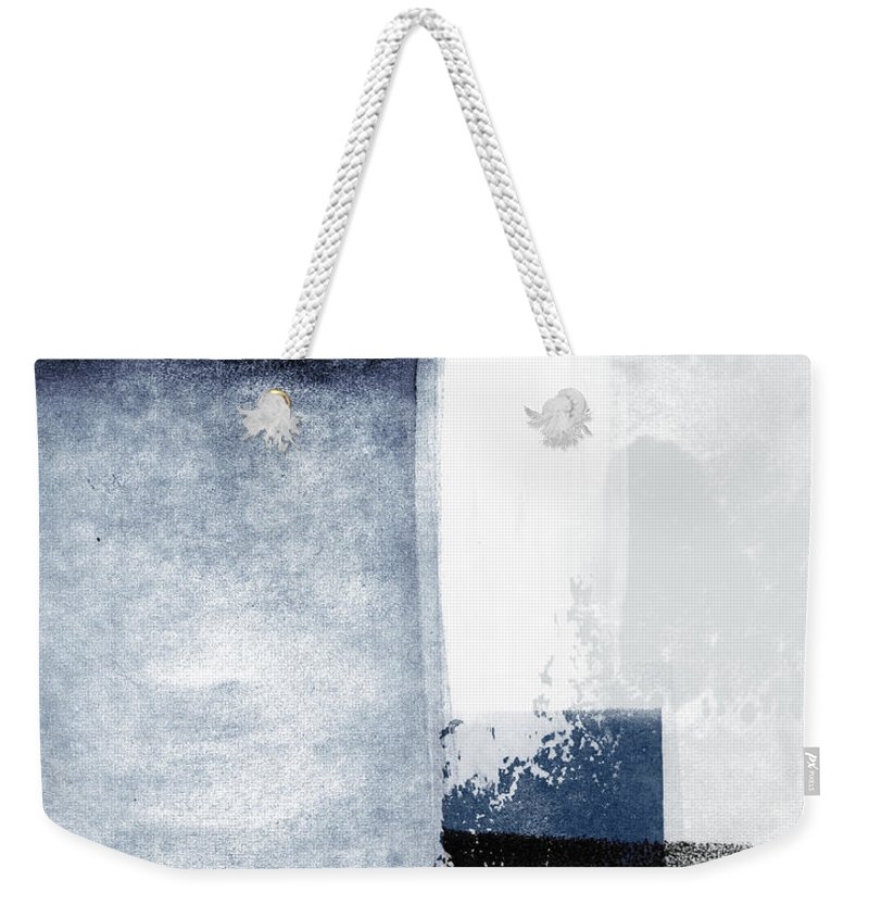 Blue Weekender Tote Bag featuring the mixed media Mestro 3- Abstract Art By Linda Woods by Linda Woods