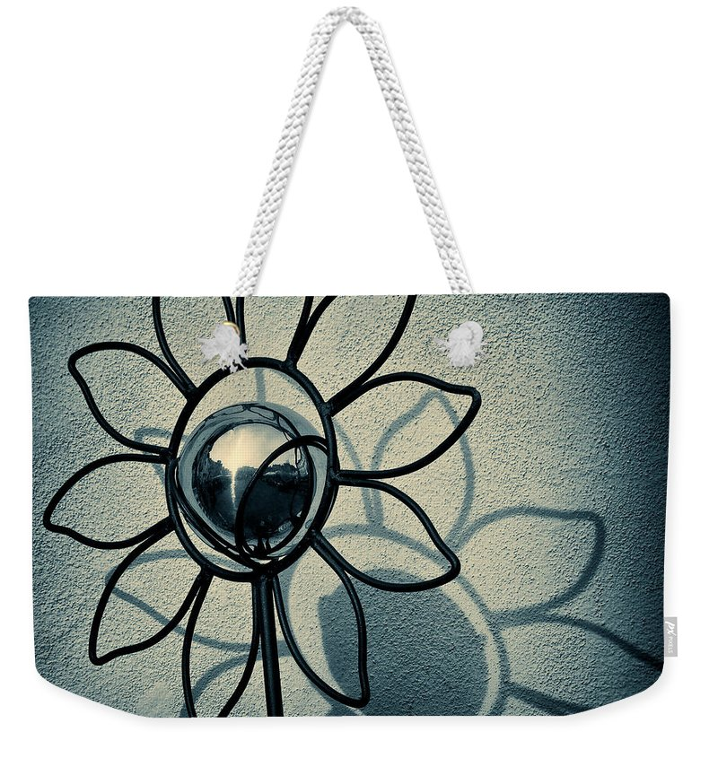 Sunflower Weekender Tote Bag featuring the photograph Metal Flower by Dave Bowman
