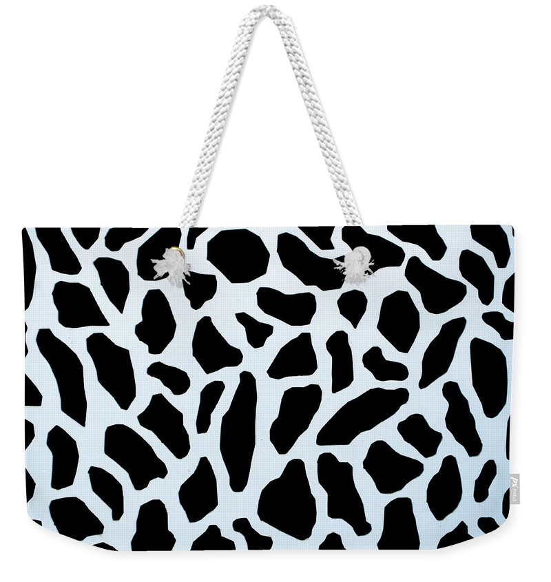 Abstract Weekender Tote Bag featuring the photograph Metal Zebra Pattern by John Williams