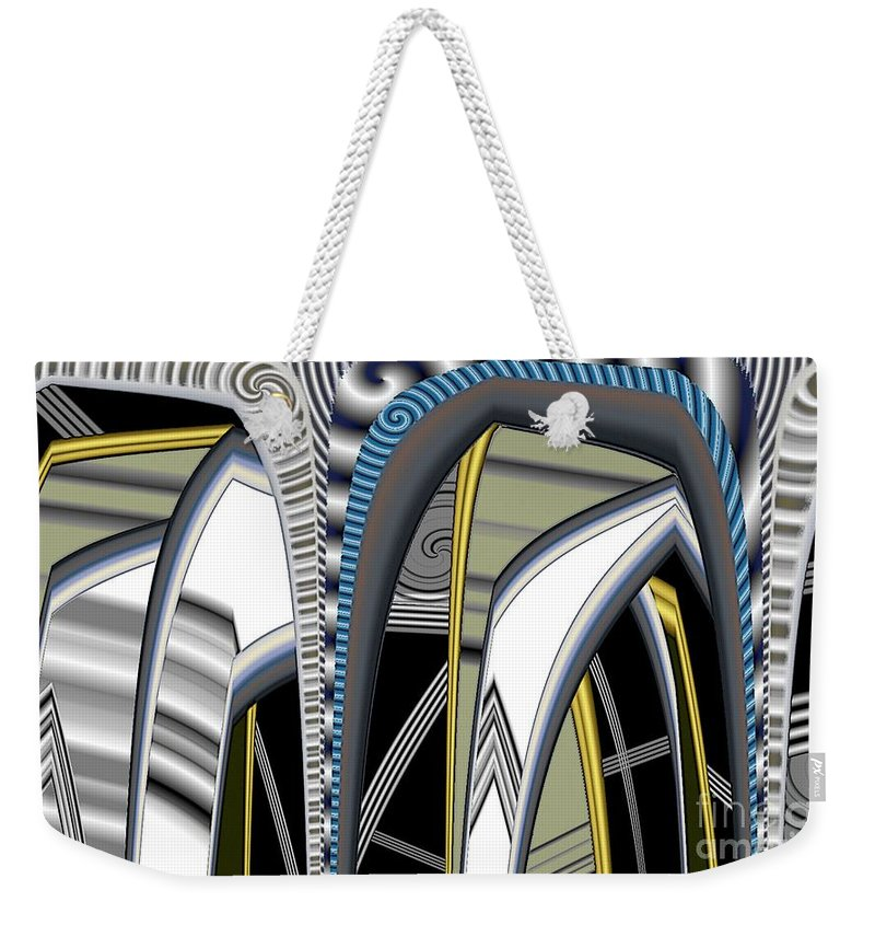 Pimped Metal Weekender Tote Bag featuring the digital art Metalic 1 Pimped by Ron Bissett
