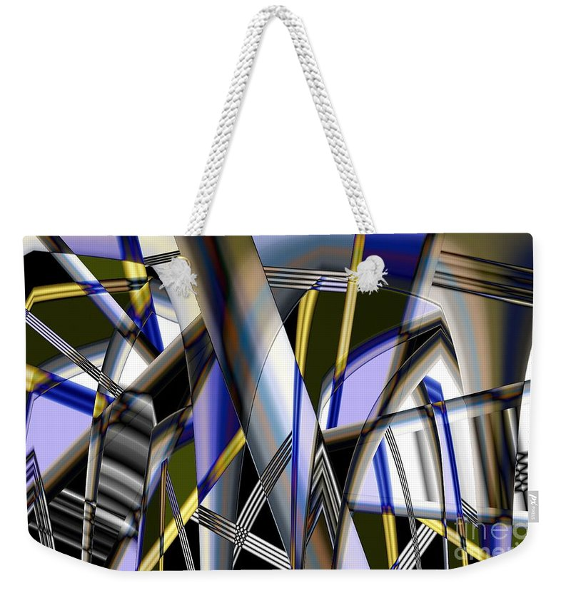 Weekender Tote Bag featuring the photograph Metallic 3 by Ron Bissett