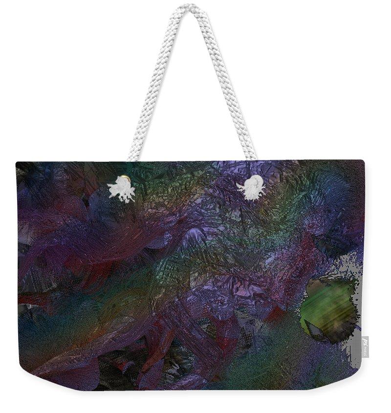 Digital Weekender Tote Bag featuring the digital art Metallic Color by J P Lambert