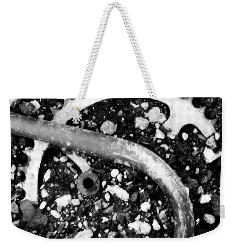 Metal Weekender Tote Bag featuring the photograph Metallic Curves by Angus Hooper Iii