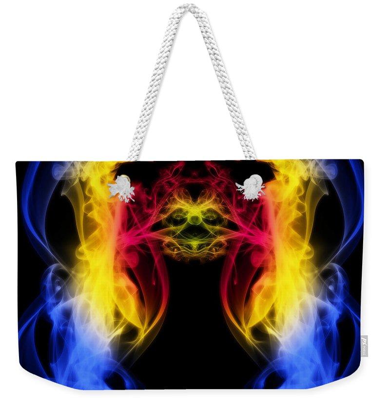 Clay Weekender Tote Bag featuring the digital art Metamorphis by Clayton Bruster