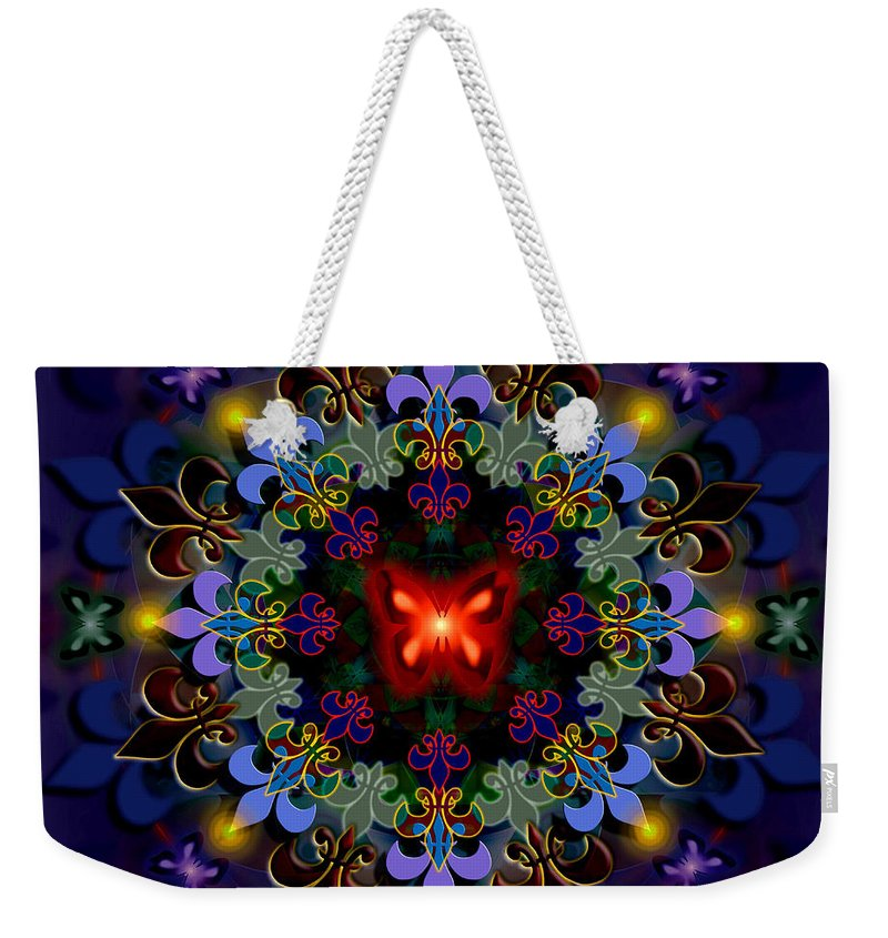Spiritual Weekender Tote Bag featuring the digital art Metamorphosis Dream II by Stephen Lucas